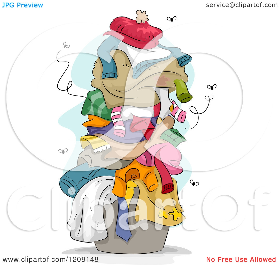 Dirty Clothes Pile Clipart#2131271.