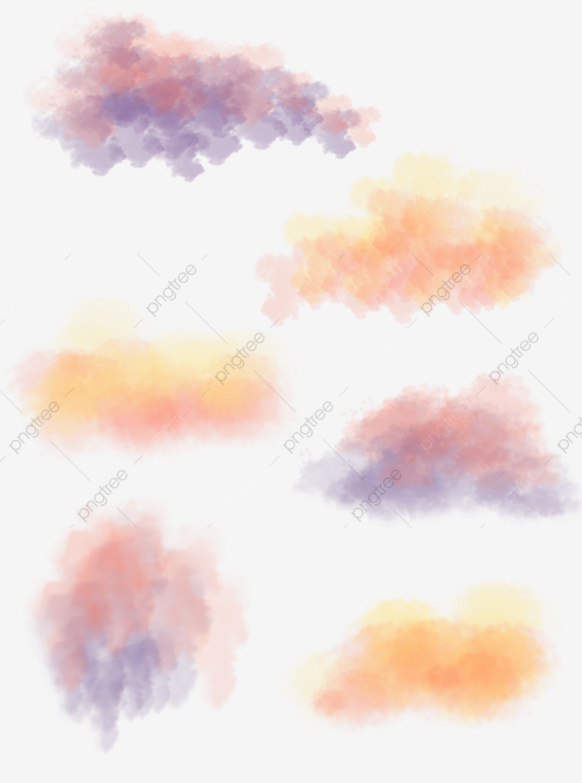Color Ink Smoke Cloud Commercial Element, Color, Ink, Smoke PNG.