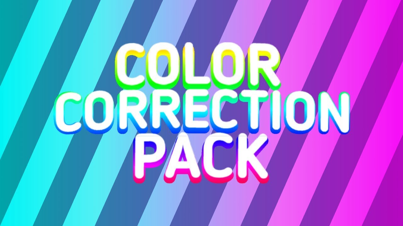 Color Correction Pack By K Mathur.