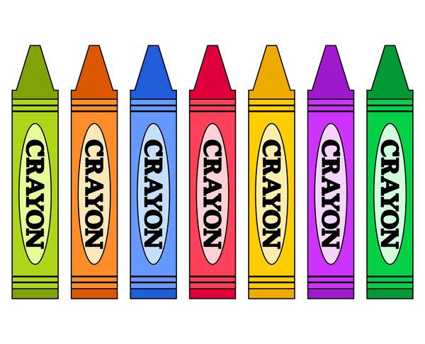 Color Crayons Clip Art.