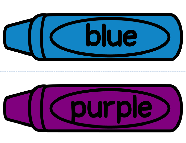 crayon labels template - different colored crayons clipart clipground
