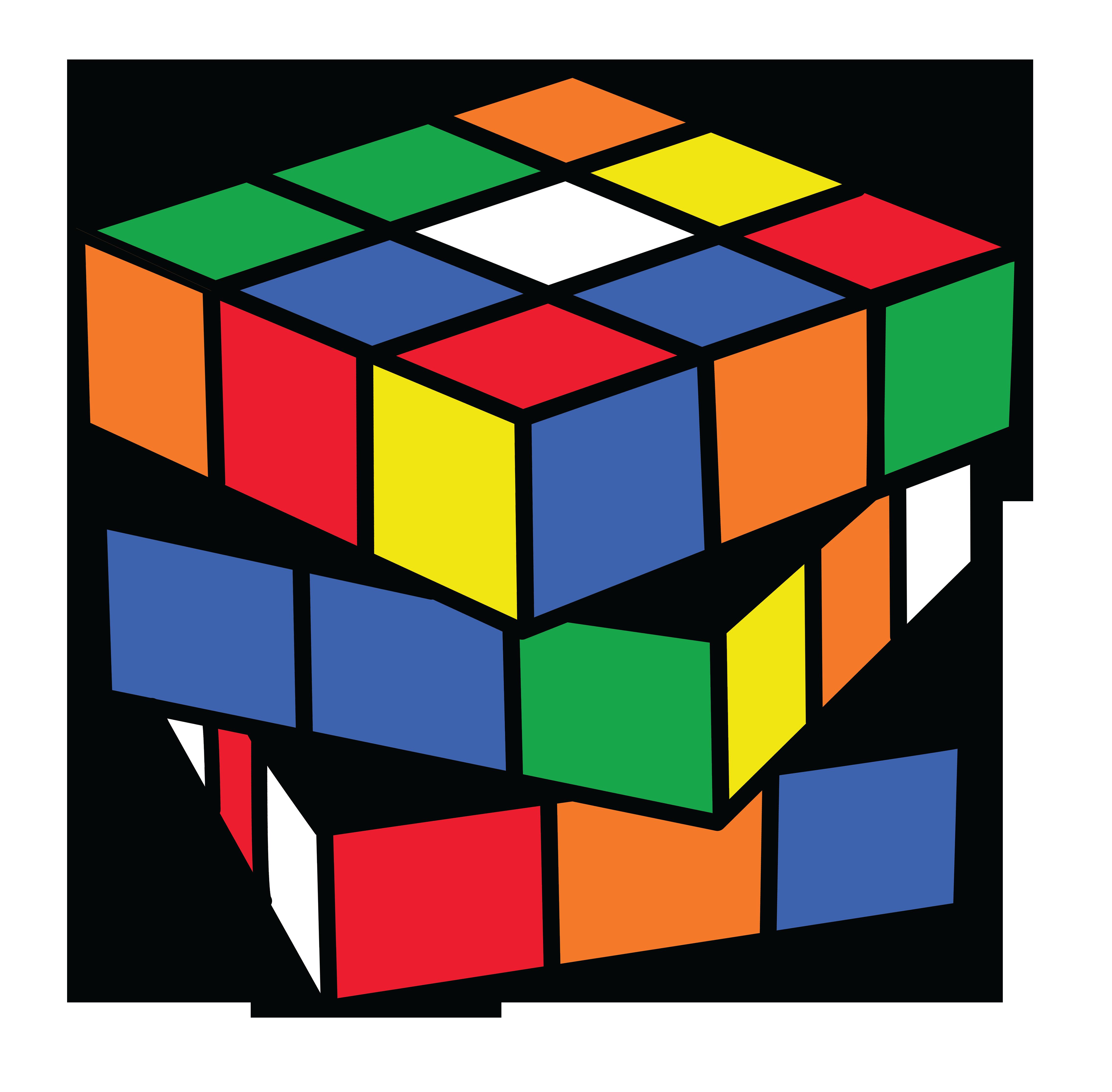 Rubiks Cube Puzzle Clipart.