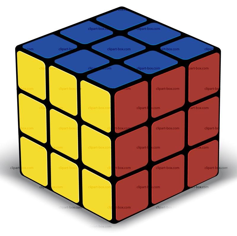 Cube box clipart.
