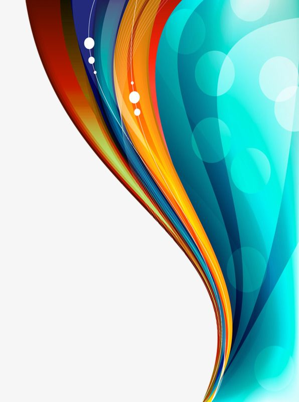 Color Floating Curve, Color Clipart, Color Curve, S Curve.