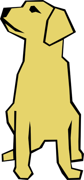 Dog Simple Drawing In Color Clip Art at Clker.com.