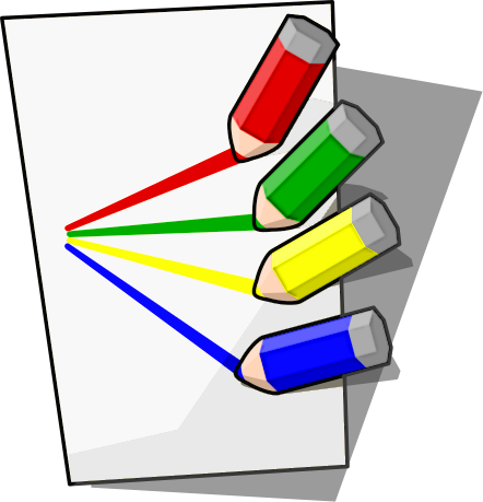 Drawing clipart to color.