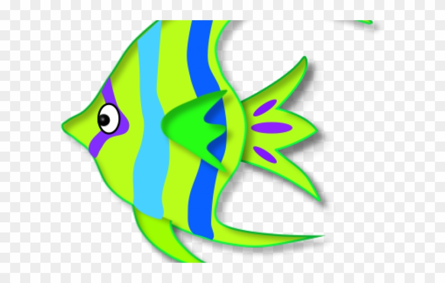 Tropical Fish Clipart Colored.