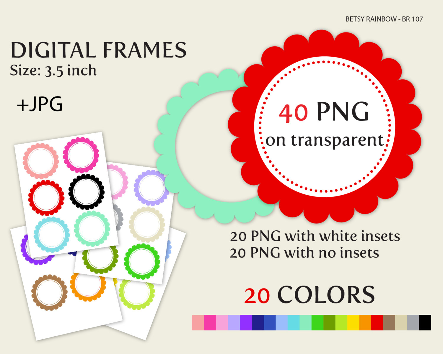 color frames clipart png - Clipground