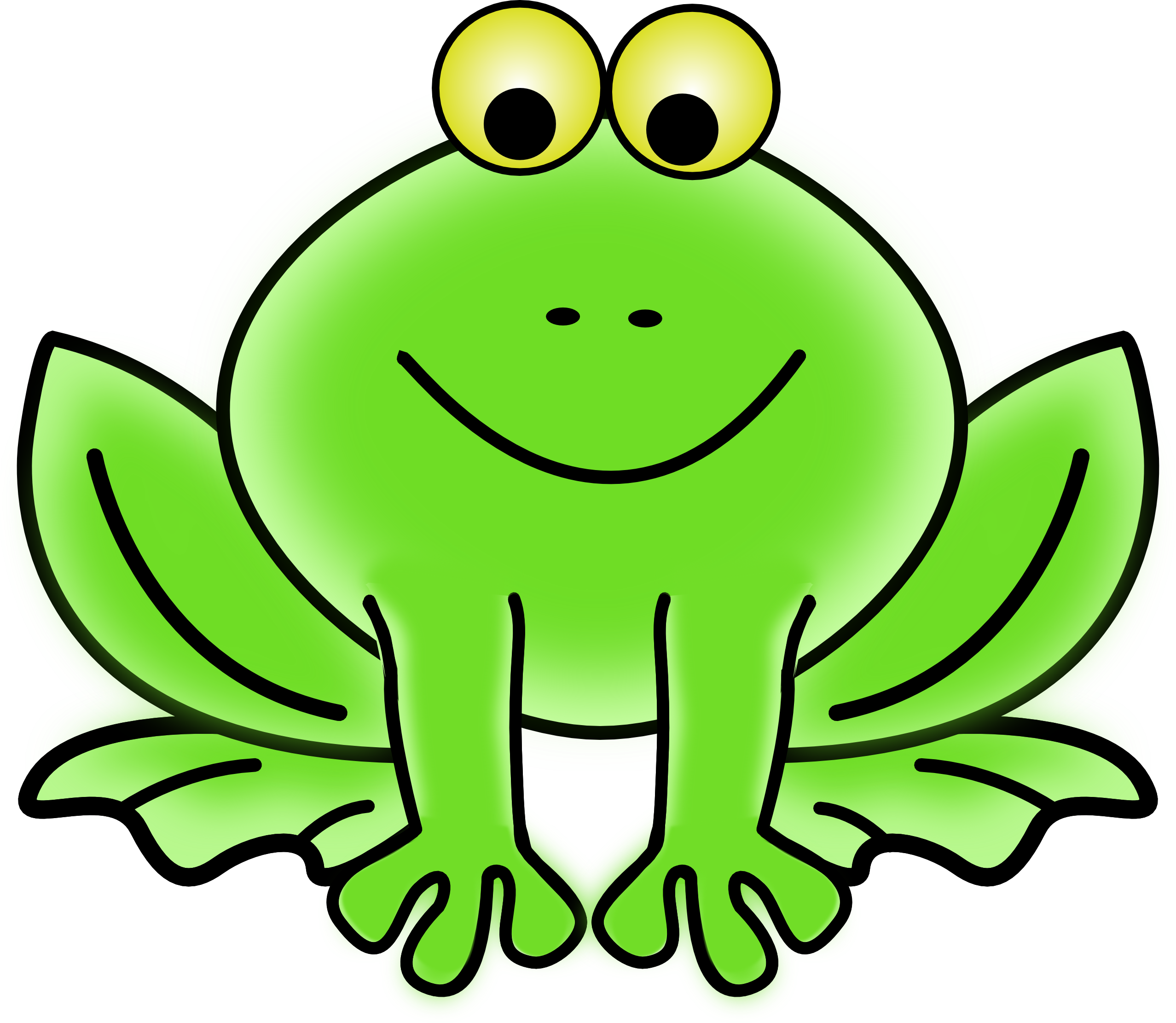Frog Clip Art To Color.