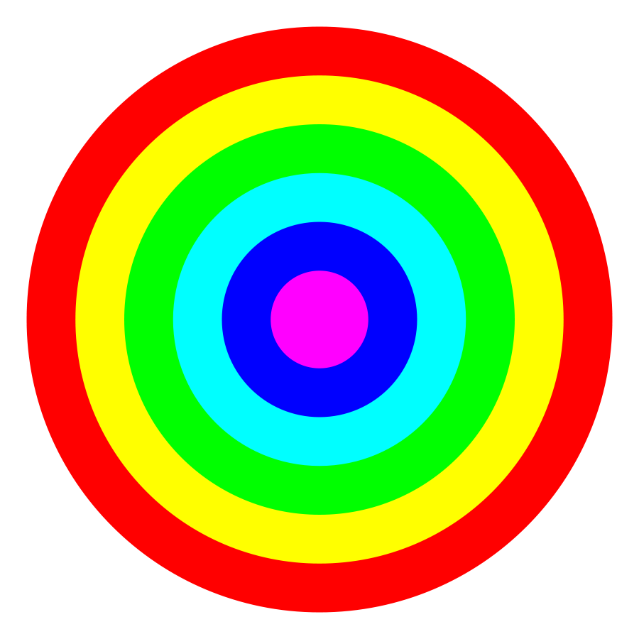 Target Colorful Clipart.