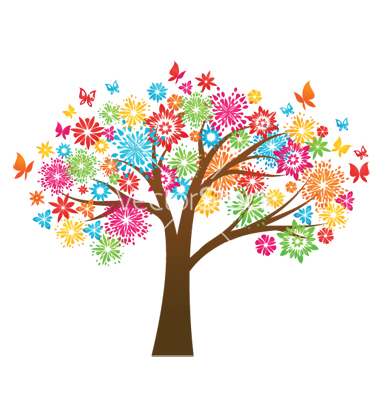Free clipart colorful tree.