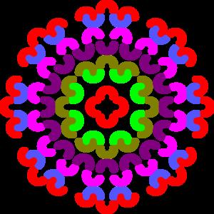 Colorful Corner Border Clip Art.