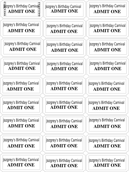 Birthday Carnival Game Tickets Clip Art at Clker.com.