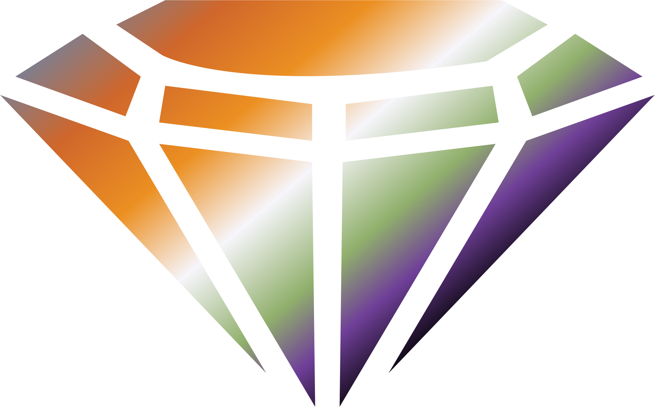 Colored Gemstone Vector Clipart.