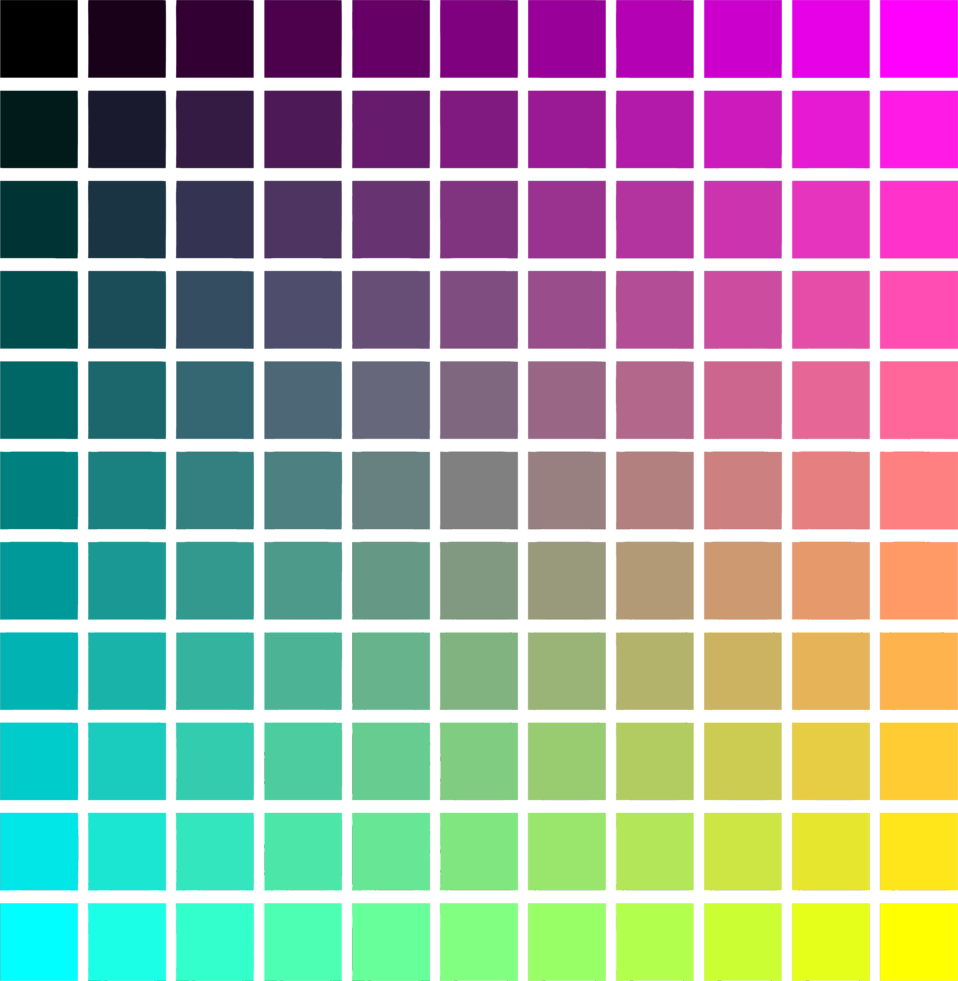 Colour gradient clipart.