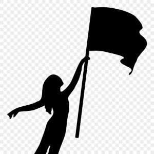 Iimjclipart Color Guard Flag Girl Silhouette Color Guard.