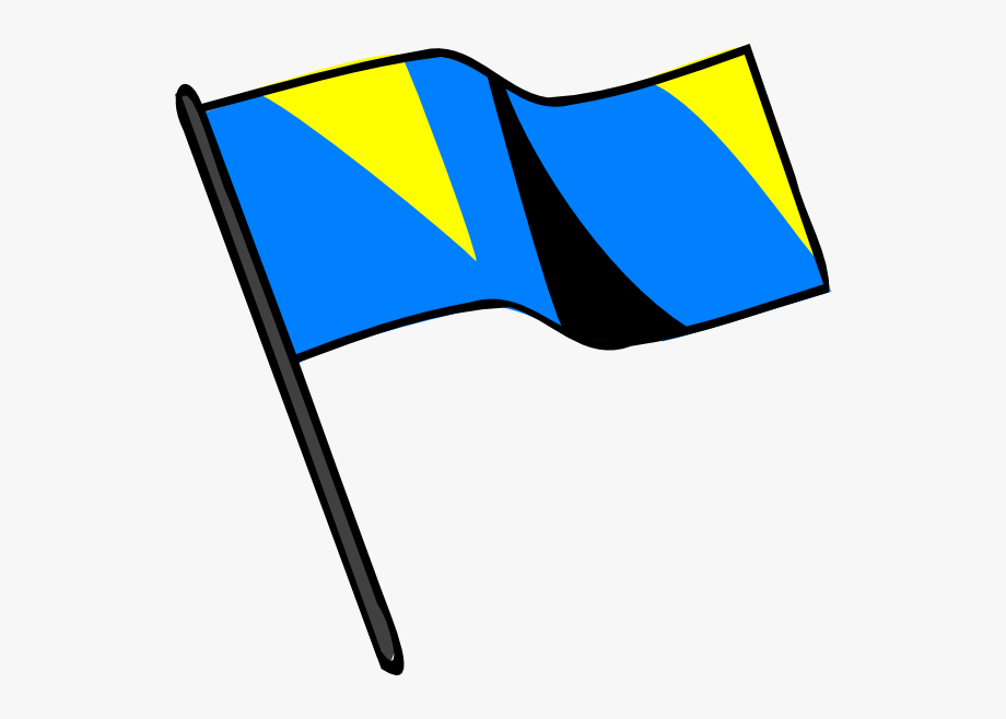 Blue Gold Black Flag Svg Clip Arts 600 X 578 Px.