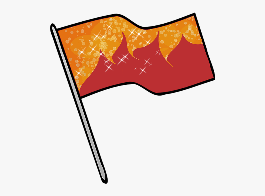 Color Guard Flags Clipart.