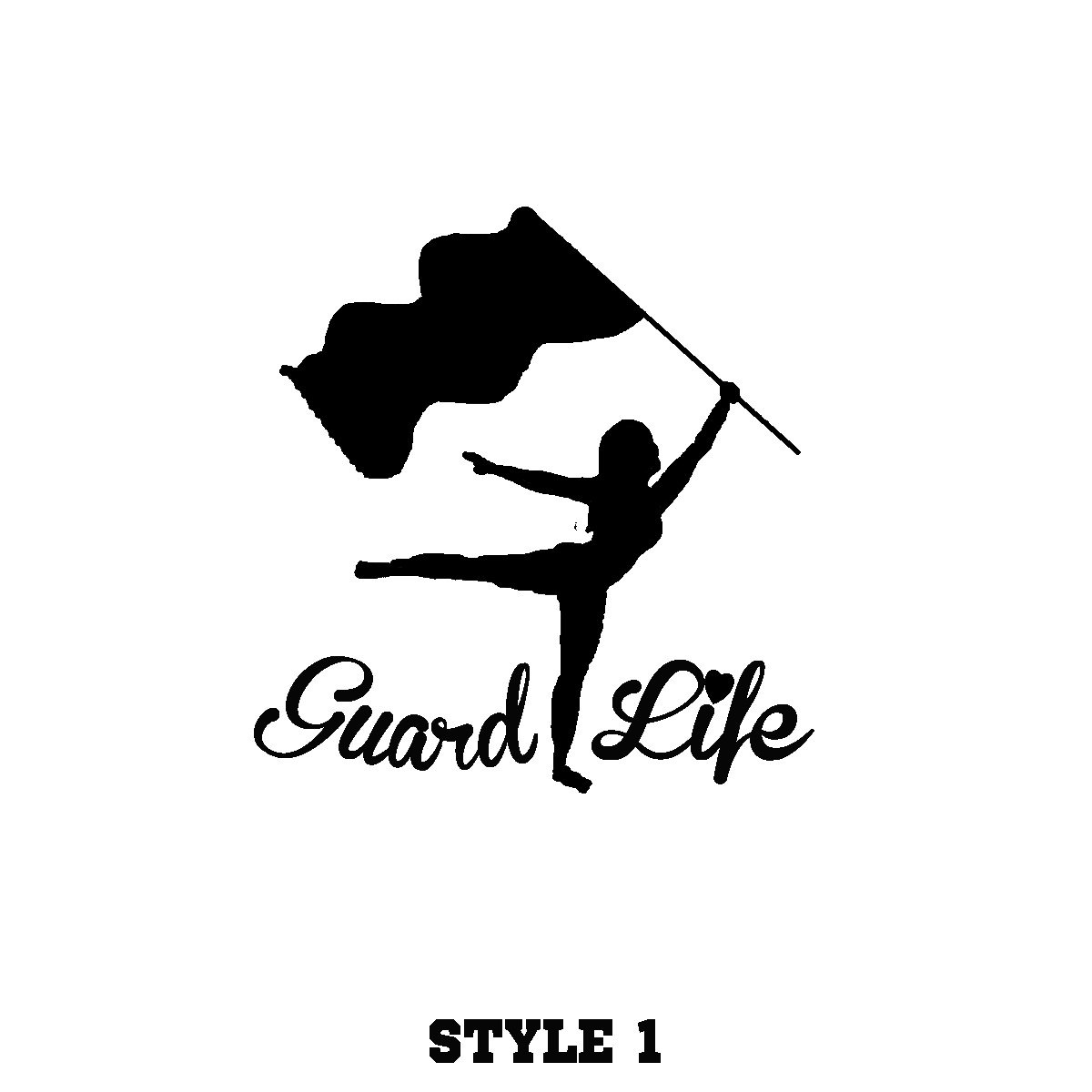 Colorguard Guard Life decal. Many colors available Custom.