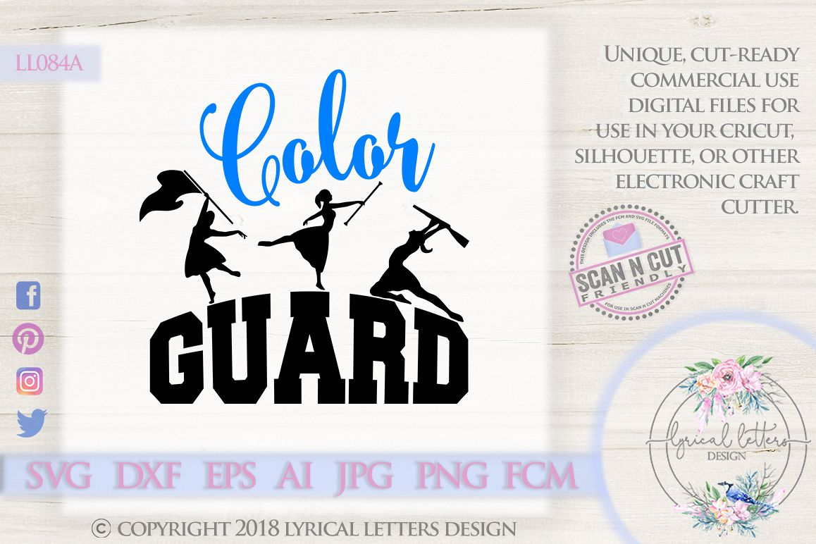 Color Guard Marching Band SVG DXF Cut File LL084A.