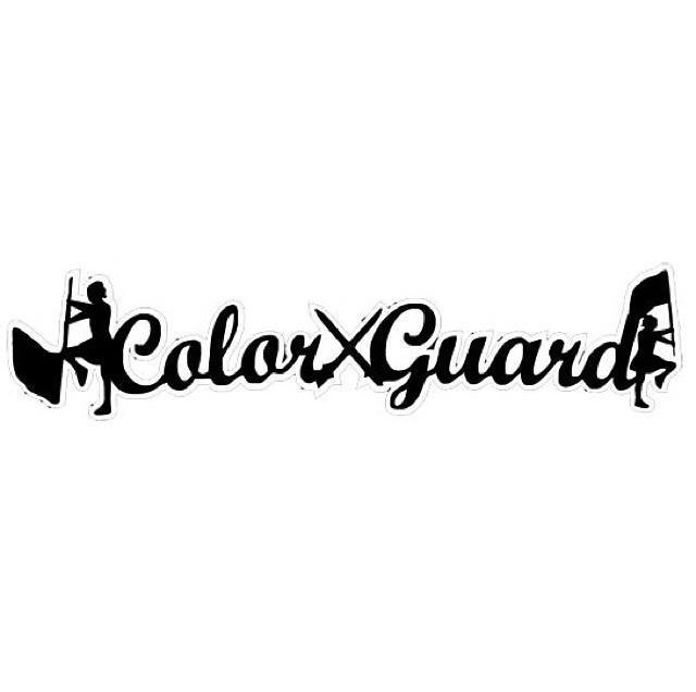 Marching Band Color Guard Clipart.