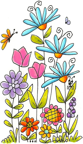 Simple and pretty flower drawing ….