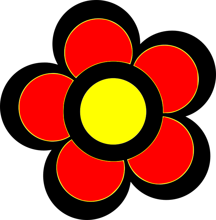 Free vector graphic: Red, Yellow, Flower, Pretty, Beauty.
