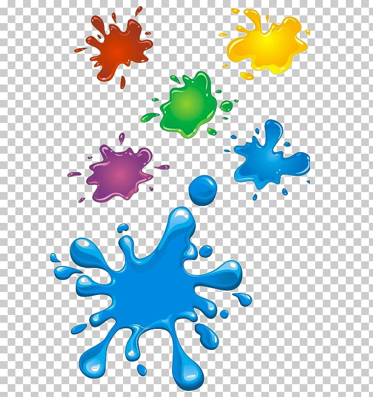 Chocolate bar Splash , Color ink drops material PNG clipart.