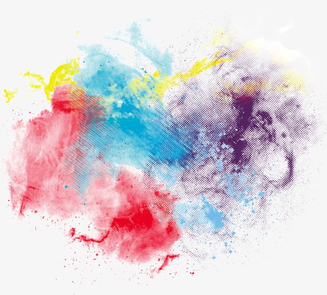Colorful Abstract Irregular Color Ink, Color Clipart, In Riotous.