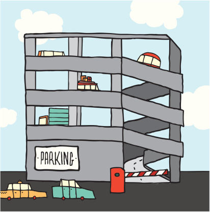 Free color clipart parking garage.