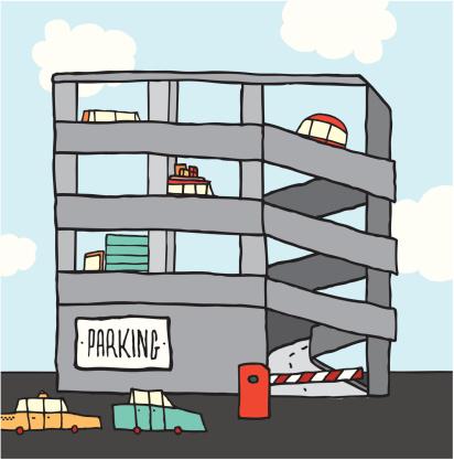 Free color clipart parking garage.