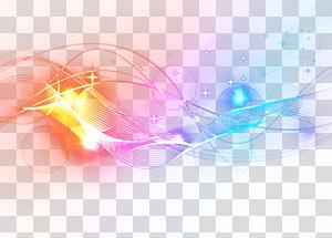 Pink, blue, and white light , Violet light Line, Violet light.
