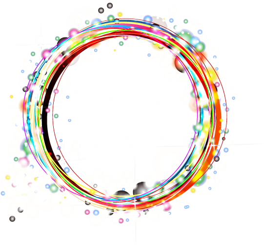 Download Free png Color Light Frame Effect Theme Circle.