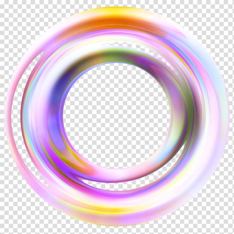 Yellow, orange, and pink circle artwork, Circle Disk Color Ring.