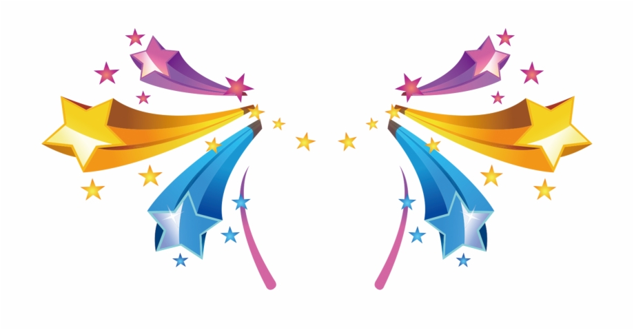 Star Colored Color Light Radiation Stars Clipart.