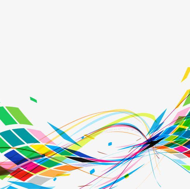 Color Dynamic Lines PNG, Clipart, Color Clipart, Colored.