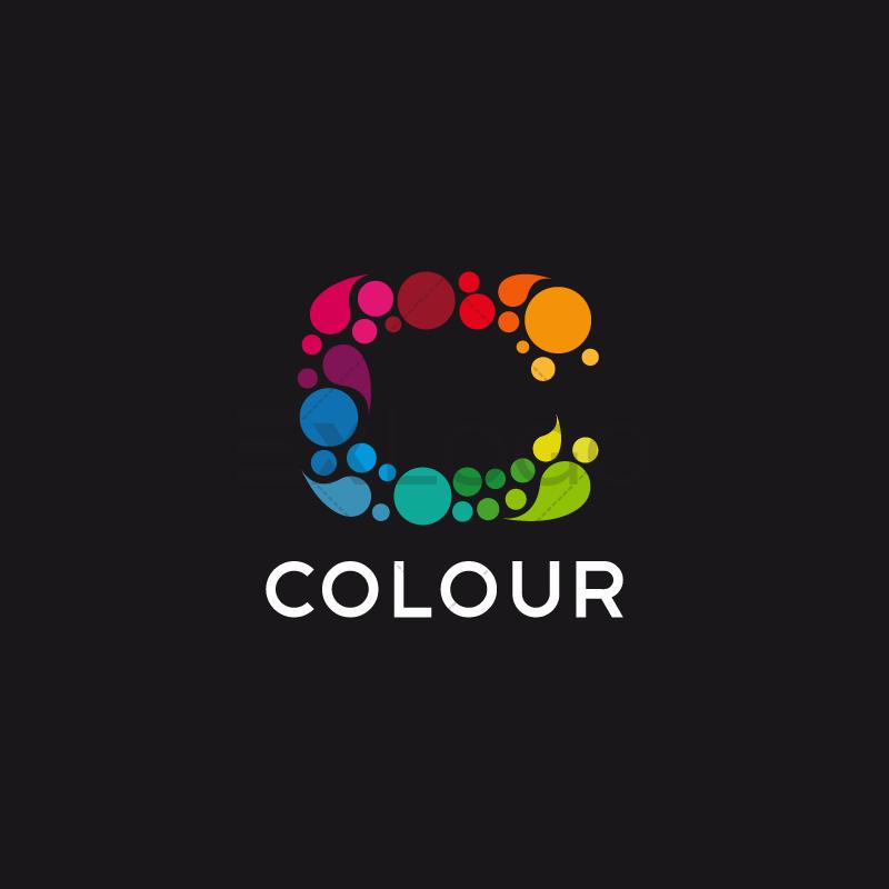Color c letter logo.