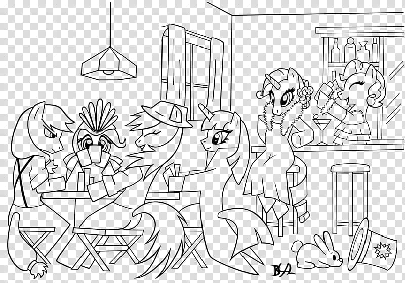 COLOR ME s Ponies, My Little Pony illustration transparent.