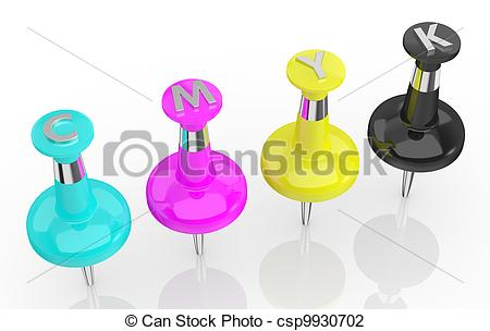 Clip Art of concept of cmyk color model.