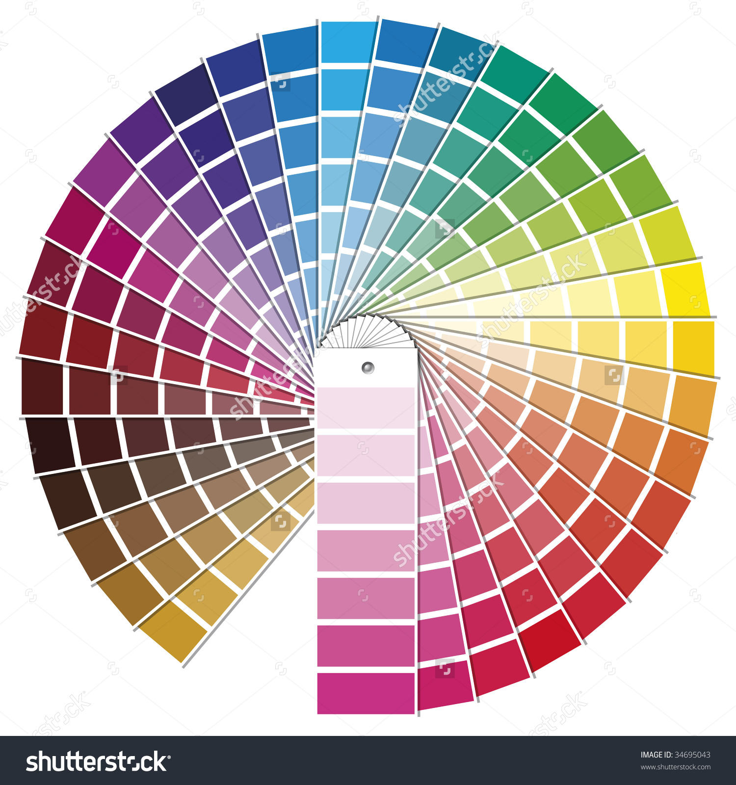Vector Illustration Pantone Color Model Stock Vector 34695043.