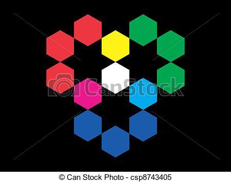 Clipart Vector of RGB Color Model.