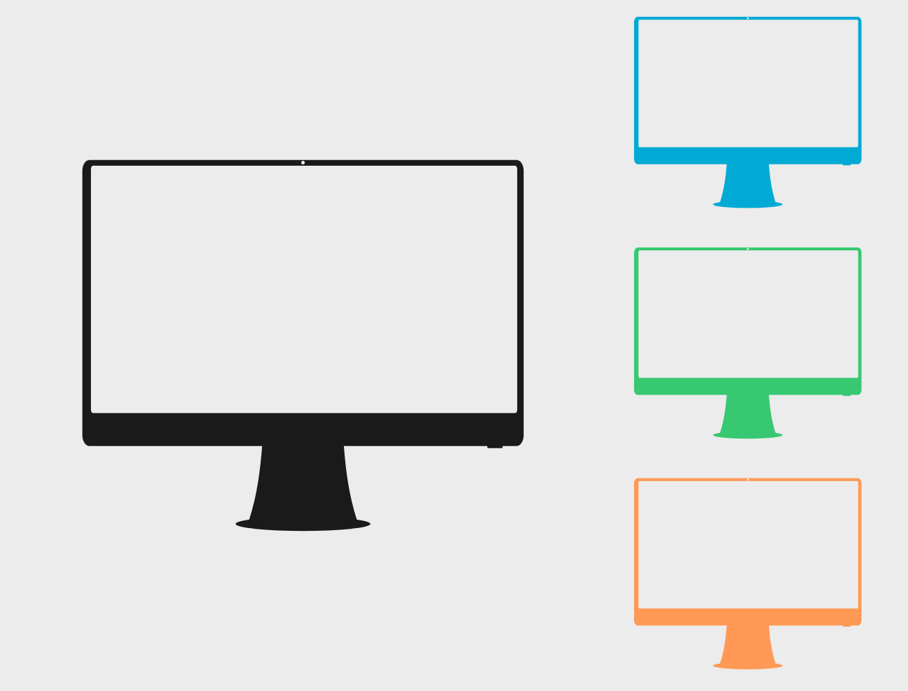 Four color monitor Free Vector, Free Clipart Images.
