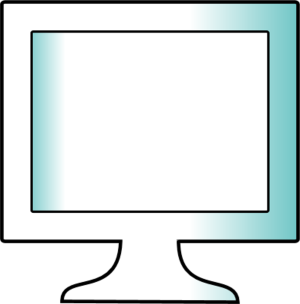 Simple Monitor Clipart.