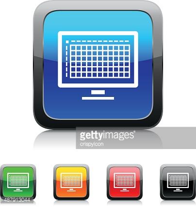 Computer monitor clipart coloure.