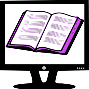 Book on Monitor Clipart.