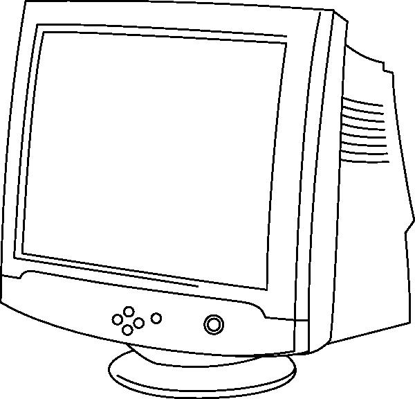 Color monitor clipart - Clipground