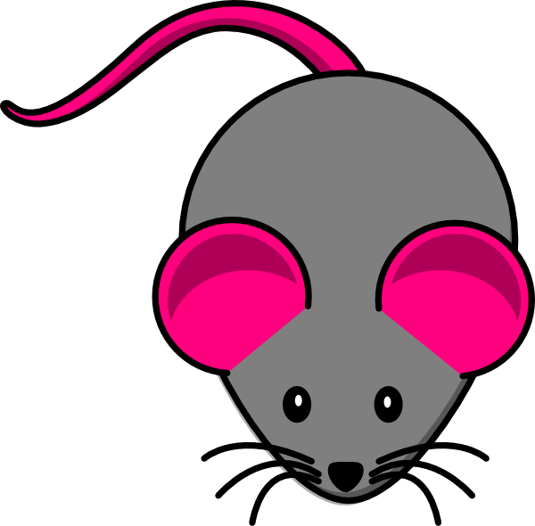 Triple color mouse clipart.