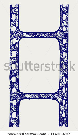 Drawings In A Film Strip Stock Images, Royalty.