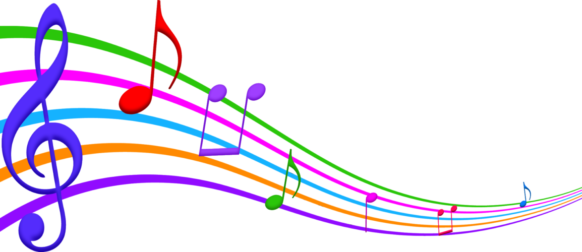 color music notes clipart #4