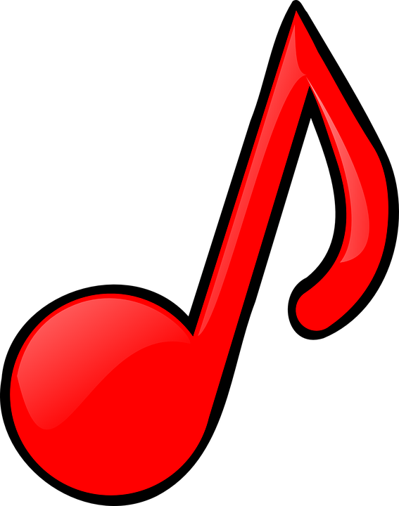 Free vector graphic: Tune, Melody, Note, Music, Red.
